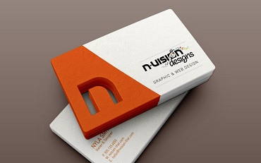 Die Cut Custom Shaped Business Cards