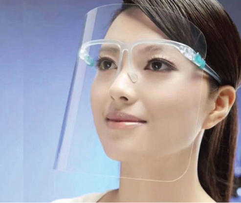Face Shield With Glass Frame